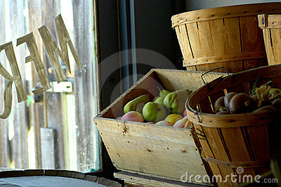 Merchant store window