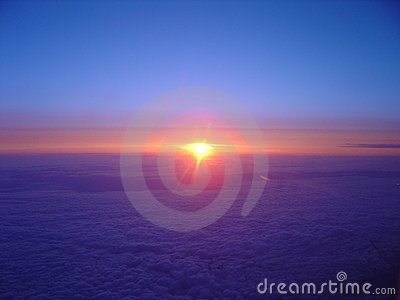 Cloudy Flying Sunrise