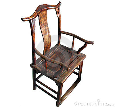 Chinese Antique Furniture Chair (isolated)