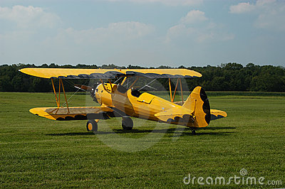Yellow & Black Biplane