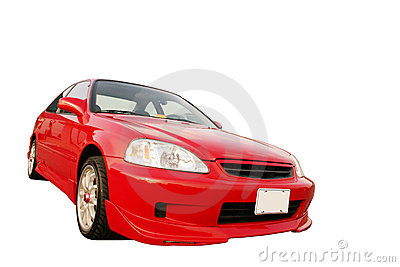 Honda Civic EX - Red 3