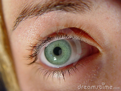Closeup Green Eye