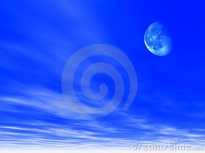 Sky background with Moon