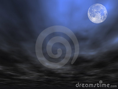 Sky background with Moon [2]