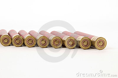410 shotgun shells, brass end view