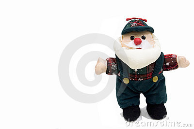 Santa in work clothes