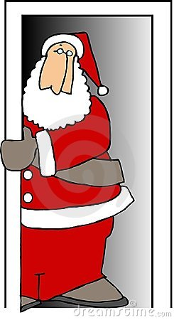 Santa in a doorway
