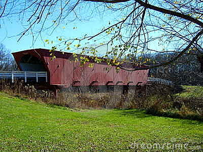 Covered bridge in Madison Co.