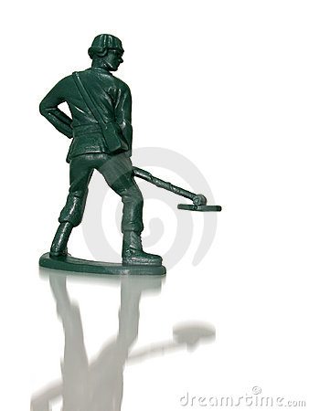 Toy Green Army Man (Mine Sweeper)