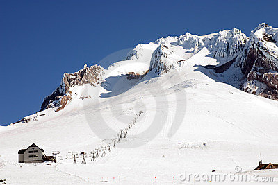 Ski lift on Mount Hood.