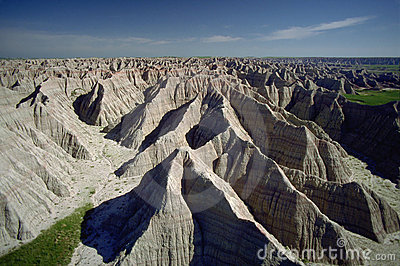 Badlands of South Dakota, Aerial
