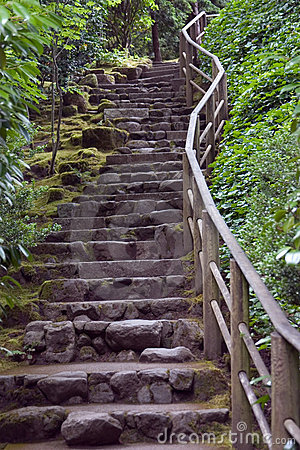 Rock stair at Japanese Gardens