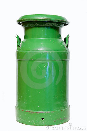 Green milk can