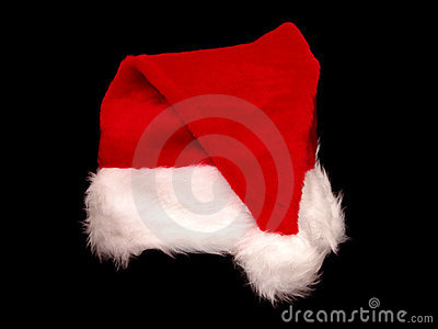 Christmas Santa Hat on Black