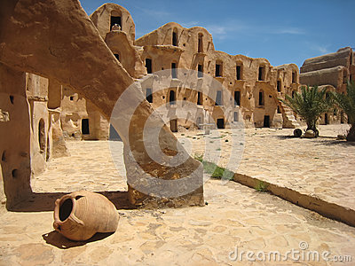 Berber fortified granary. Ksar Ouled Soltane. Tunisia