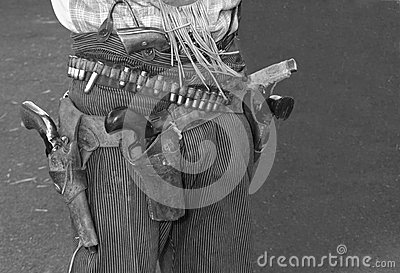 Wild West Outlaw Cowboy Guns and Holster