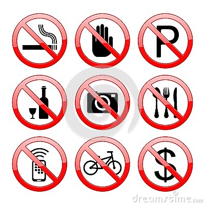 No Sign Icons