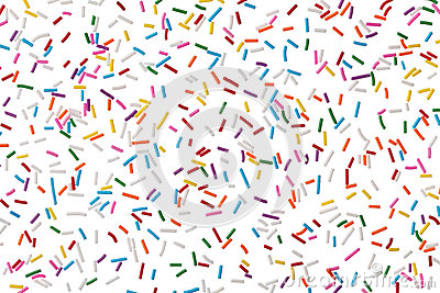 Colorful candy sprinkles isolated on white
