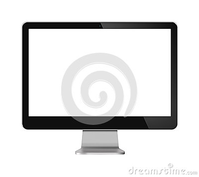 Computer Monitor LCD Screen on white
