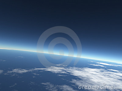 sky background / blue Earth