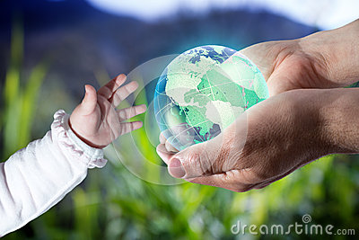 Give the world the new generation - Usa - green