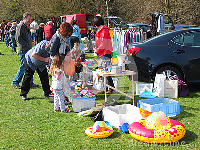 Car boot or table top sale.