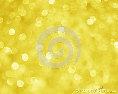 Yellow Gold Blur Background - Xmas Stock Picture
