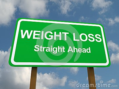 Weight loss straight ahead sign