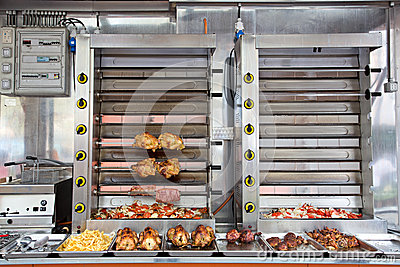 Commercial Stainless Steel Rotisserie Oven