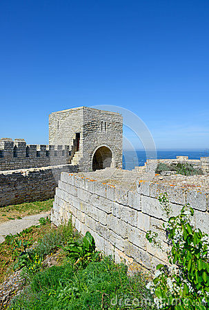Medieval fortress on Cape Kaliakra, Black Sea