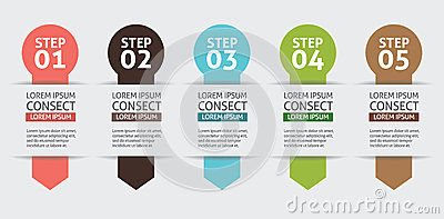 Vector Background Number Options Banner
