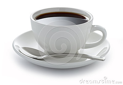 Cup Coffee Black White