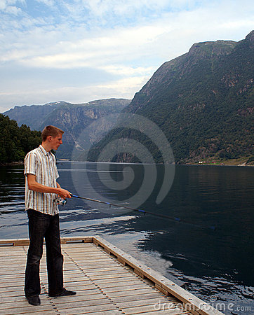 Fishing in the fjord