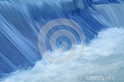 Blue water in the movement