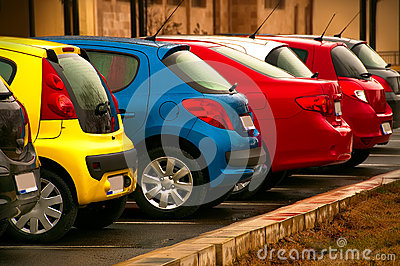 Automobiles of different colors