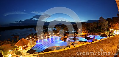 TIER POOL AT NIGHT