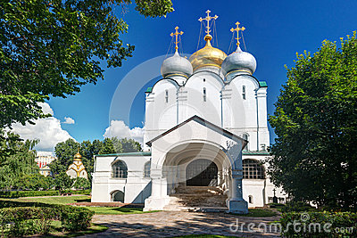 Smolensky cathedral in Novodevichy convent in Moscow