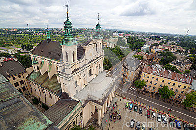 Beautiful architecture of the old town in Lublin