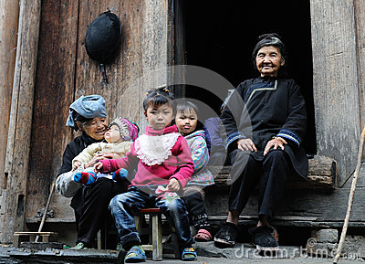 Poor family in the old village in Guizhou, China