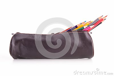 Pencil case isolated