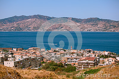 Calabrian view on Messina strait