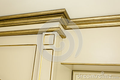 Old style golden detail in a villa house