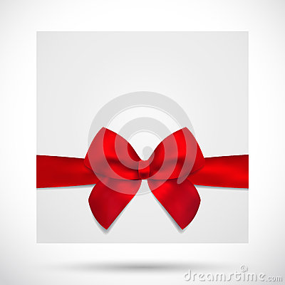 Holiday card, Christmas / Gift Birthday card, bow