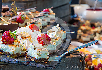 stock image of desserts