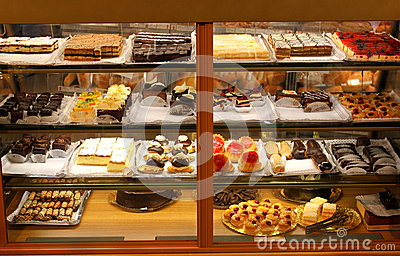 stock image of cakes and desserts