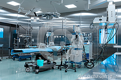 Operating room in cardiac surgery