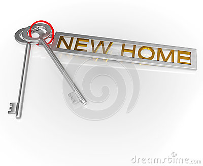 New Home Key Shows Moving Into House