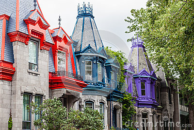 Colourful buildings in Montreal