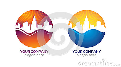 Modern city logo design