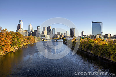 Philadelphia Fall skyline